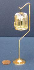 1:12 Scale Casa De Muñecas En Miniatura De Metal jaula de pájaro sobre una base Pet Accesorio