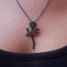 Genuine Alchemy Gothic Ciondolo-Il Romanticismo della rosa nera | Collana Donna
