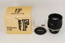 """Exc++++!! in BOX"" Nikon NIKKOR AI-S 105mm f/1.8 Prime MF Lens From JAPAN #0322"