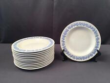 12 Wedgwood Embossed Queensware Bread Plates Lavender On White