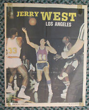 1968 Topps JERRY WEST MINI POSTER VINTAGE & RARE BLOWOUT SALE