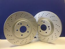 MERCEDES C CLASS CLK SLK 5X11 PAGID 330MM FRONT PERFORMANCE DRILLED BRAKE DISCS