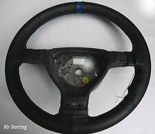FITS TRIUMPH 2000 MK1 63-69 PERFORATED LEATHER STEERING WHEEL COVER + BLUE STRAP