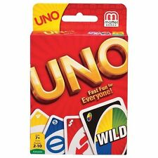 UNO Card Game Family Fun One Pack of 112 pcs Playing Card Authentic Mattel Brand