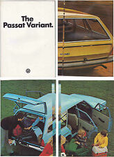 Two 1973-74 VOLKSWAGEN PASSAT VARIANT 8 Page German Brochures in English