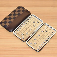Chinese chess,Xiangqi, Folding magnetic metal pieces Portable Travel toy