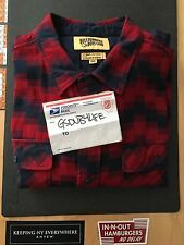 BBC BILLIONAIRE BOYS CLUB RED NAVY FLANNEL SZ XXL WORN ONCE 100% AUTHENTIC