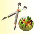 New Ice Cream Double-End Stainless Steel Scoop Spoon Melon Baller Cutter Fruit