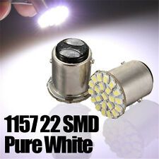 2x 1157 BAY15D 22 SMD LED P21/5W White Car Stop Tail Turn Brake Light Bulb Lamp