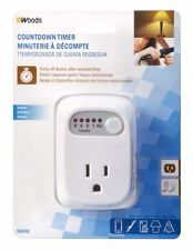 Coleman Cable 50030 Indoor Countdown Timer, White