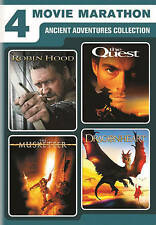Robin Hood / The Quest / The Musketeer / Dragonheart (DVD 2016)Brand New