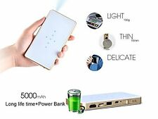 DLP-100WM Mini Wifi Pico Projector Multimedia Airplay HDMI out USB 1080P White