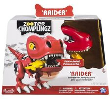 Zoomer CHOMPLINGZ Raider Interactive Chomping Red Dinosaur Dino w Lights, Sounds