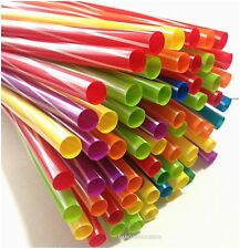 135 X SUPER QUALITY  MULTICOLOURED JUMBO SMOOTHIE/MILKSHAKE DRINKING  STRAWS