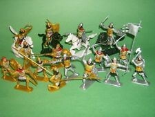 Plastic Medieval Russian Knights Plastic Figures Set No. 37 New In Bag!