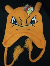 Pokemon Charizard Fire Dragon 3d Face Laplander Pilot Beanie Hat Anime Nintendo