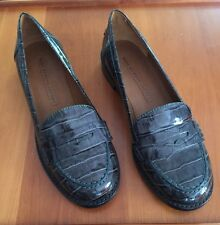 """Shoes penny loafers women 39 8.5 Marc by Marc Jacobs Croc Flats 1"""" Heel"""