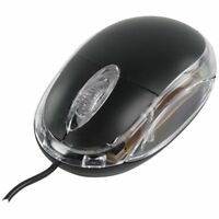 BLACK USB 3 BUTTON OPTICAL PC/COMPUTER MOUSE WITH SCROLL WHEEL