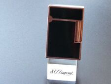 S T Dupont Line 2  Lighter Black Chinese Lacquer with Rose Gold Trim