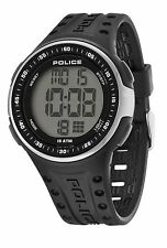 Police Cyberlite Men's Quartz Watch w Grey Digital Dial & Black Strap 13904JPBS