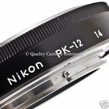Nikon PK-12 Auto Extension Tube catalog 2652 - AI-NIKKOR MF AUTO-DIAPHRAGM - EX