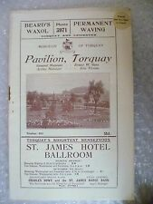 1937 Theatre Programme HOUSEMASTER- Ian Hay,E Gilbert, James Moran