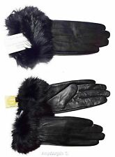 Lot of 2. Leather Gloves. Real Fox fur. Large. Women's Gloves. winter gloves NWT