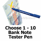 1-10 Money Checker Pen Fake Pound Note Euro Dollar Tester Free Bank Note Guide