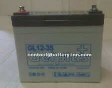 Batterie GEL 12v  35Ah  Fauteuil Roulant Handicapé a décharge lente,1300 Cycles