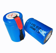 8x 1600mAh Ni-CD 4/5SC SubC Sub C 1.2V Rechargeable Battery with Tab univerisal