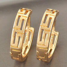 Classic 9K Solid Gold Plated Ladies Huggie Hoop Earrings,Z2973