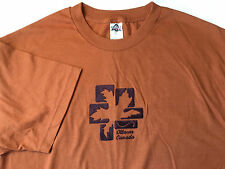 Alstyle Men's Women's T-Shirt Ottawa Canada Embroidery Short Sleeve Rust Size L