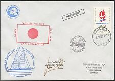 FRANCE TAAF FSAT LETTRE COVER 1990 VOILIER POLAIRE OSAKA POSTED SEA JAPON JAPAN