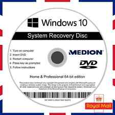 Medion Windows 10 Home & Professional Recovery Repair Install Boot Disc Software