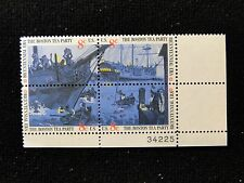 # 1480 - 83 The Boston Tea party (LR) plate block of 4  Mint N H free shipping