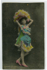 c 1904 French Theater SHOWGIRL in Costume music hall cabaret  photo postcard