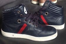 Gucci Kids Leather High Top sneakers Size 32 EU 1 US VGUC