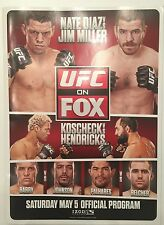 Nate Diaz vs Jim Miller UFC ON FOX Program 5/5/12 Hendricks vs Koscheck