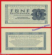 ALEMANIA GERMANY 5 Marcos 1944 Nazi Reichsmark  Pick M39  SC / UNC
