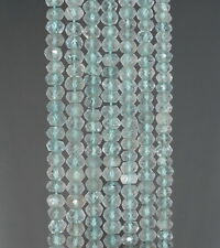 4X2MM SKY BLUE TOPAZ  GEMSTONE GRADE A FACETED RONDELLE LOOSE BEADS 13""