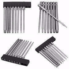 8pcs NEW T8-T40 1/4inch 100mm Hex Shank Magnetic Torx Screwdriver Bits Set