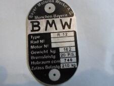 Panneau type BMW R 12 R12 20 PS 162 kg bouclier ID-plaque Armée allemande WW 2