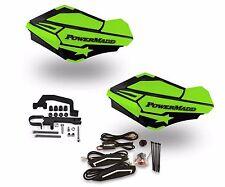 Powermadd Sentinel LED Handguards Black / Green Mount Ski Doo Hayes Snowmobile
