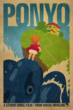 Ponyo Animated Film Fabric Art Cloth Poster 20inch x 13inch Decor 01