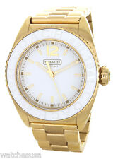 Coach Women's Andee White Face Gold Bracelet Watch