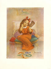 WALTER HOESCH Vintage Mid Century 1947 Childrens Print WORNOUT Bambini Series