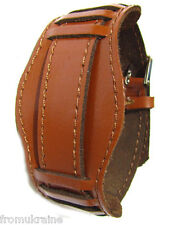 18mm ORANGE OLD WAR MILITARY VINTAGE STYLE Soviet USSR RUSSIA Leather Watch Band