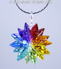 m/w Swarovski Crystal Chakra 7 Color Star SunCatcher Pendant Lilli Heart Designs