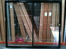 Aluminium Sliding Door 2100h x 2410w Black Colour. IN STOCK. INCLUDES REVEALS