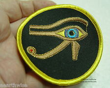 EYE OF HORUS SEW ON CLOTHING PATCH - Wicca Pagan Witch Goth EGYPTIAN GOD
